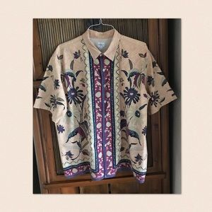 Calvin Klein Batik Pattern Shirt